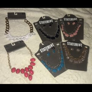 SIX Necklaces with earnings